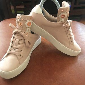 Michael Kors Pink Womens Lace Up Sneakers,Size:6